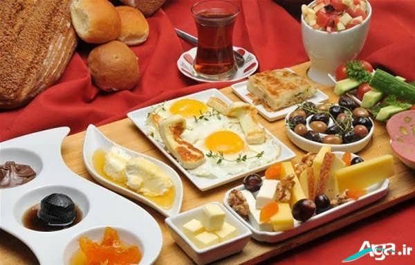 سفره آرایی صبحانه