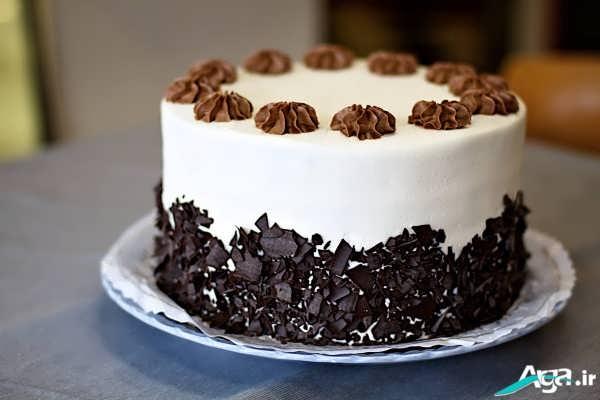 تزیین کبک خامه ای شکلاتی