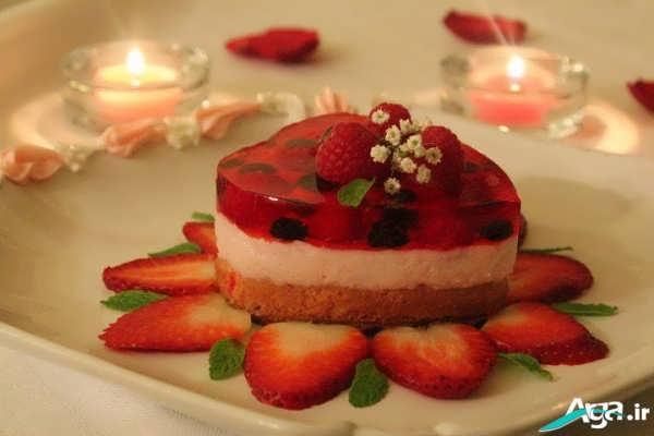 تزیین کیک ژله ای