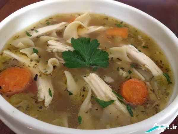 تزیین جدید سوپ خوشمزه