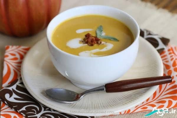 تزیین روی سوپ