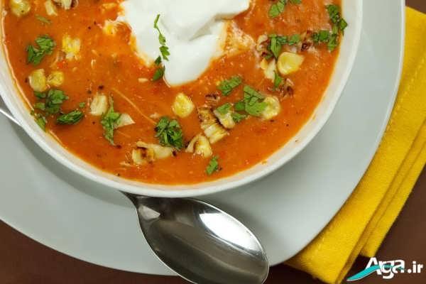 تزیین جدید سوپ سبزیجات