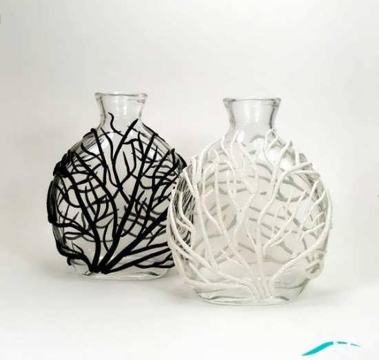 گلدان شیشه ای ساده