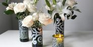تزیین گلدان