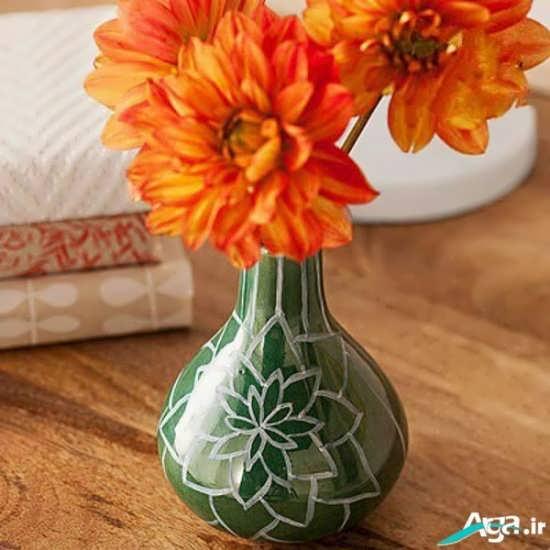 نقاشی روی گلدان