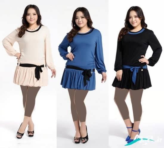 لباس مجلسی دختران چاق