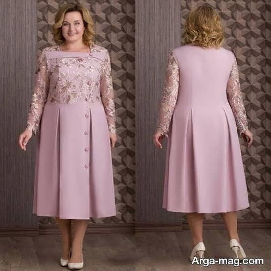 مدلی از لباس مجلسی برای خانمهای چاق
