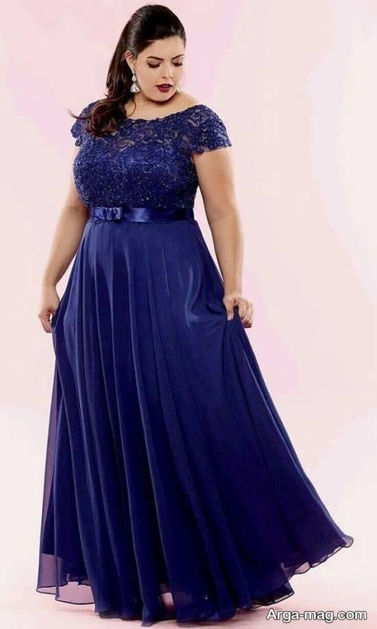 لباس مجلسی زیبا برای خانم های چاق