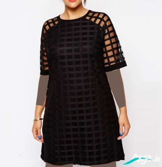 لباس مجلسی تیره برای خانومهای چاق
