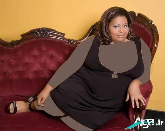لباس مجلسی با اندازه مناسب برای خانومهای بسیار چاق