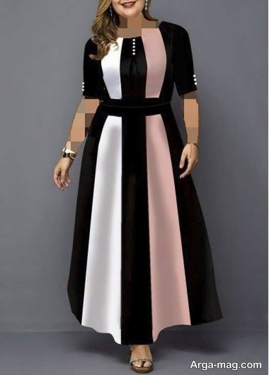 لباس مجلسی شیک برای خانم های چاق
