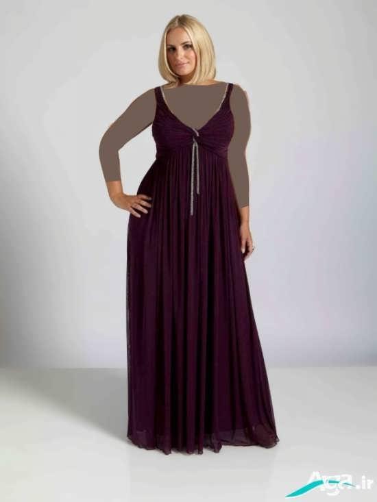لباس مجلسی با رنگ زرشکی