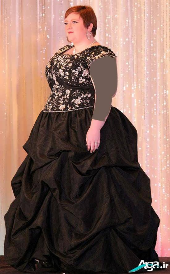 لباس مجلسی برای خانومهای چاق میانسال