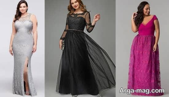 لباس مجلسی بلند برای خانم های چاق