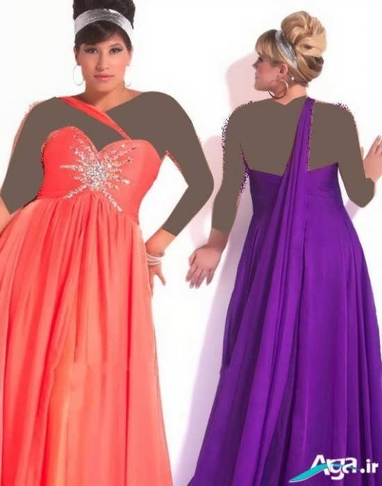 لباس مجلسی ویژه خانومهای چاق