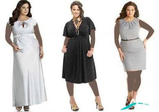 سه مدل لباس مجلسی افراد چاق
