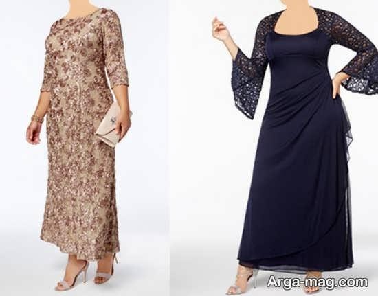 طرح لباس مجلسی برای خانمهای چاق