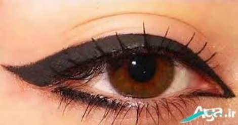 آموزش خط چشم مناسب برای چشمان گرد