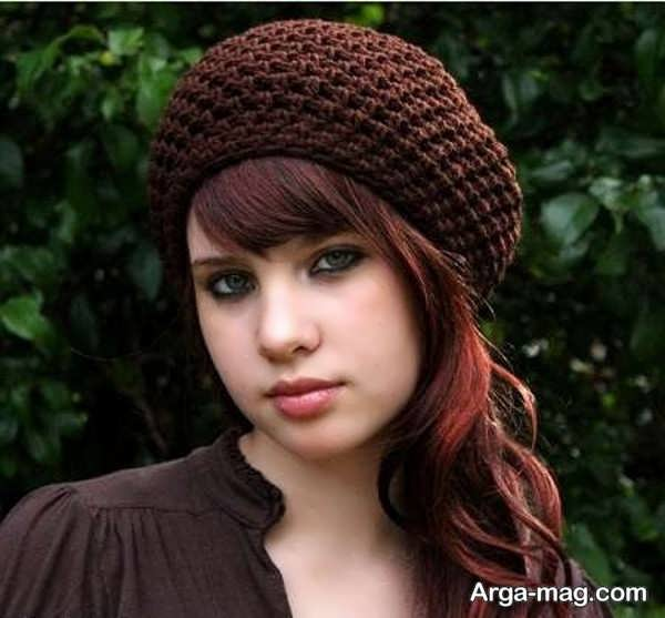 مدل جذاب کلاه بافت دخترانه