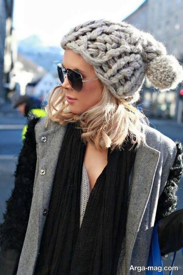 مدل زیبای کلاه بافت دخترانه