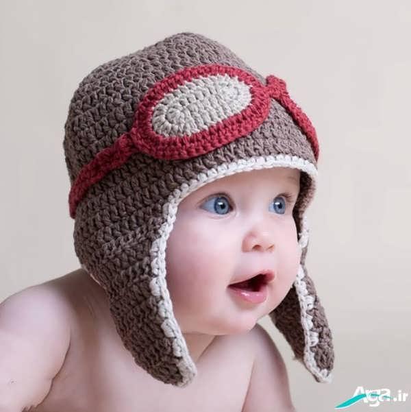 بافت کلاه نوزاد پسر
