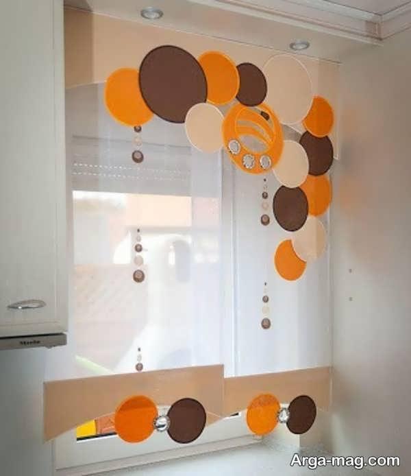 انواع پرده آشپزخانه با طرح جدید