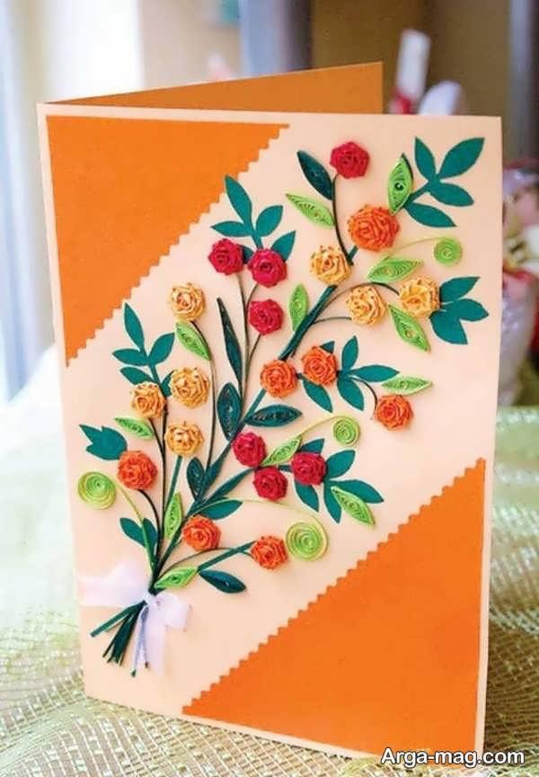 ساختن کارت پستال دست ساز