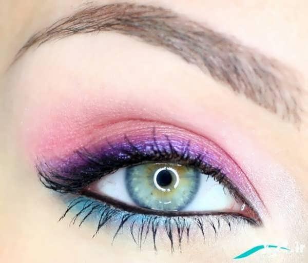 مدل آرایش چشم سبز با سایه روشن