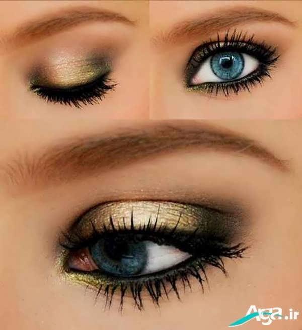 مدل آرایش چشم آبی ریز