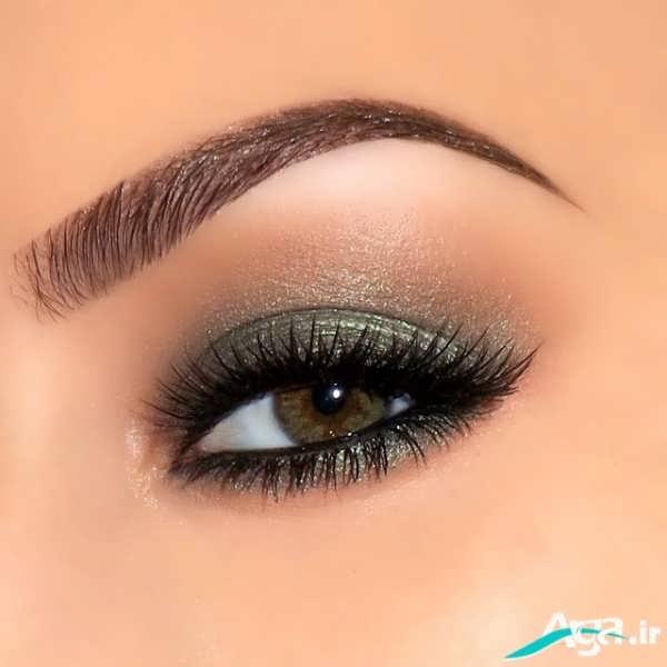 مدل زیبای آرایش چشم و ابرو