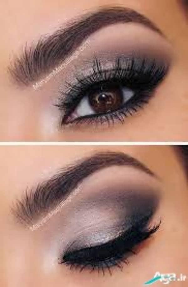 آرایش چشم قهوه ای بسیار زیبا
