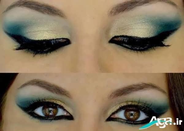 آرایش چشم با سایه روشن و مدل ابرو مناسب