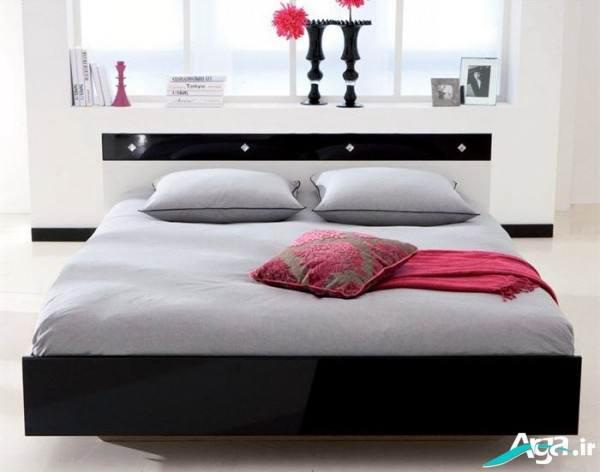 تخت خواب دو نفره سفید