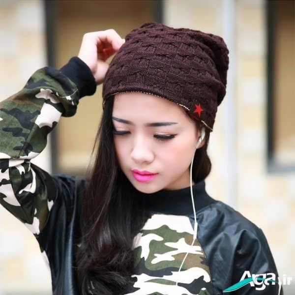 مدل کلاه بافتنی دخترانه بسیار زیبا