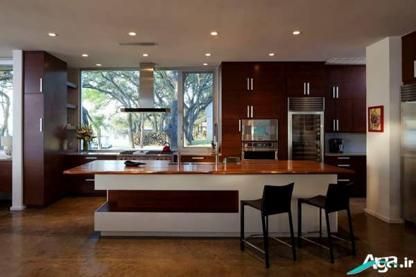 چیدمان آشپزخانه مدرن و شیک