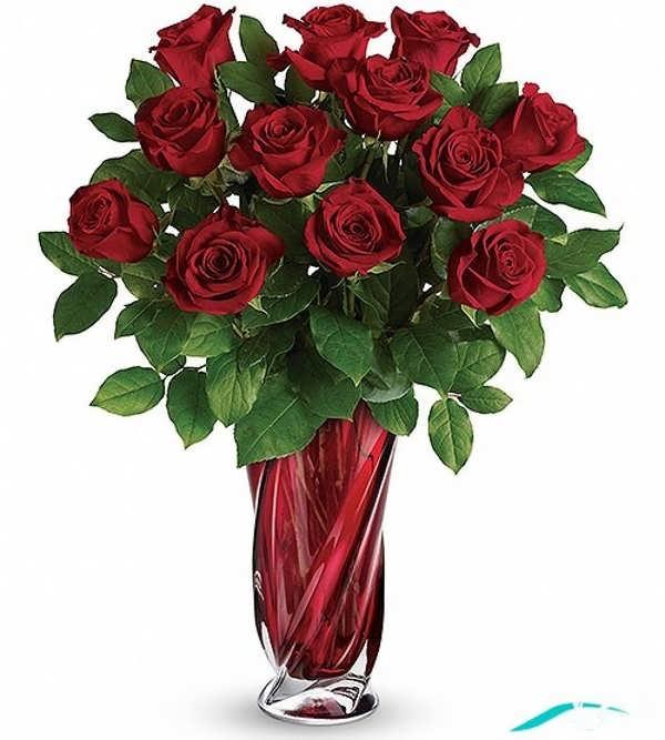 گلدان گل رز