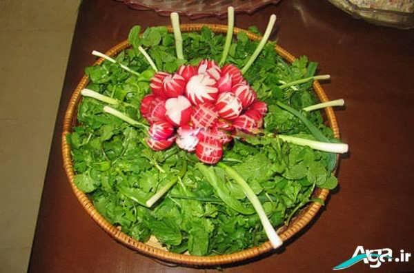 سبزی خوردن تزیین شده