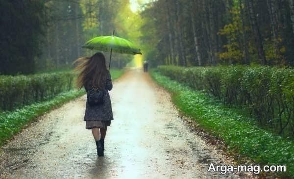 عکس طبیعت بارانی عاشقانه