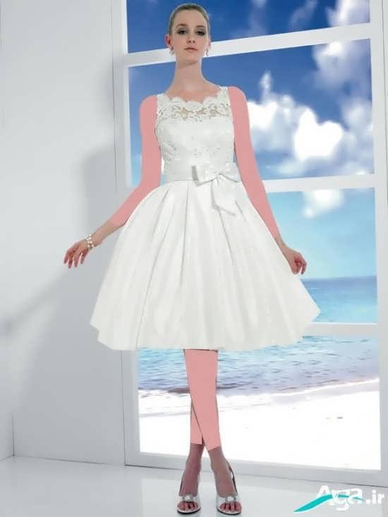 لباس عروس کوتاه مدرن