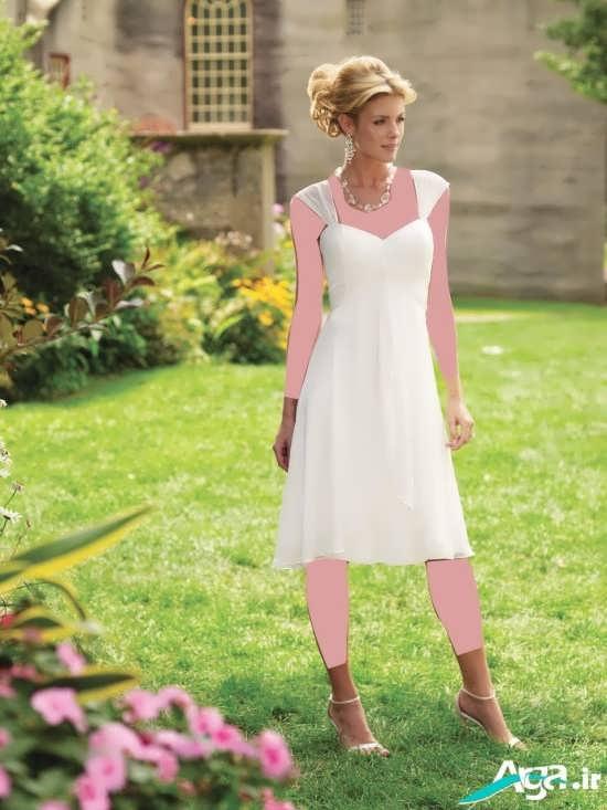 لباس عروس کوتاه با طرحی ساده