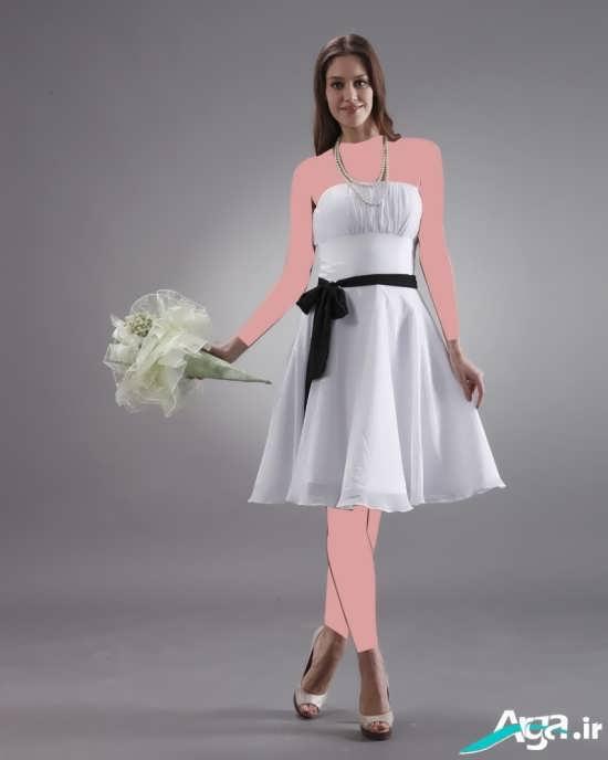 مدل بسیار زیبا لباس عروس کوتاه
