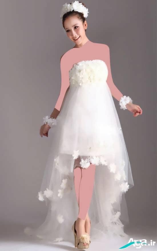 لباس عروس کوتاه و دکلته