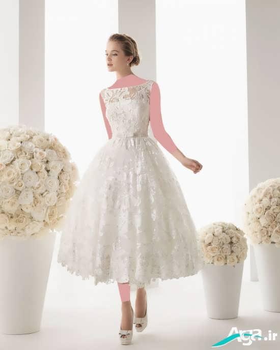 مدل لباس عروس کوتاه مدرن