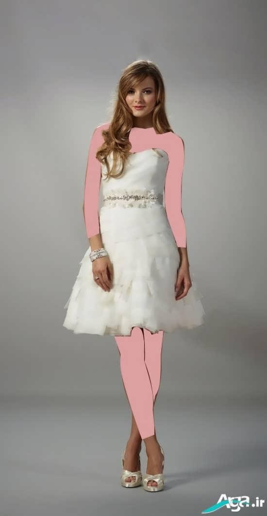 لباس عروس کوتاه بسیار زیبا