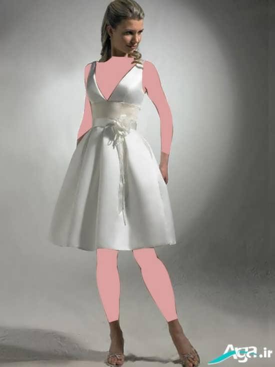 لباس عروس با آستین حلقه ای