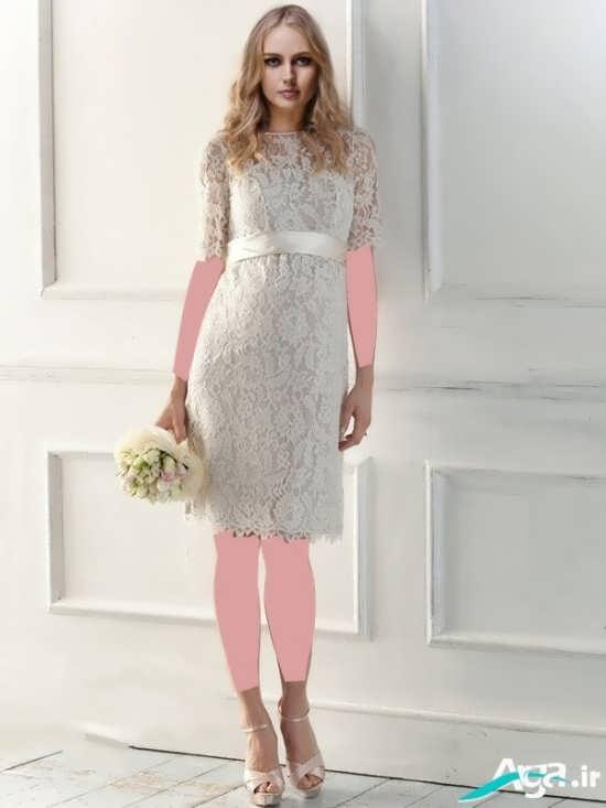 لباس عروس کوتاه بسیار فوق العاده
