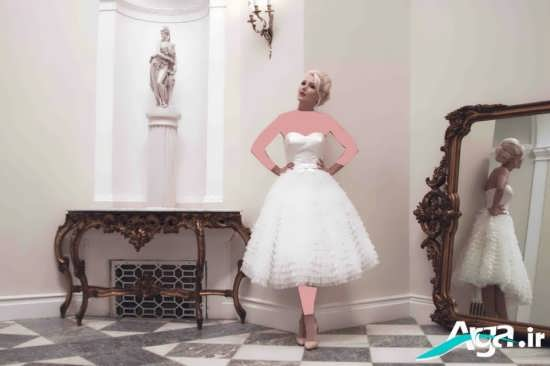 لباس عروس بسیار جذاب کوتاه