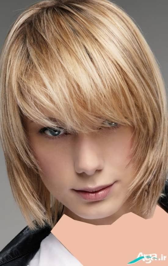 مدل مو با رنگی روشن و جذاب
