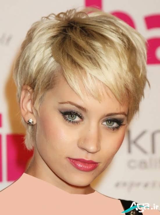 مدل مو با رنگی بسیار روشن برای موهای کم پشت