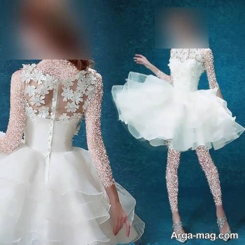 پیراهن عروس کوتاه و شیک